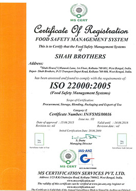 shah brothers certificate registration