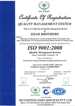 shah brothers certificate registration 2008